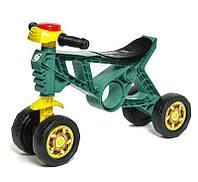Детский мотоцикл беговел - толокар Орион с резиновыми колесами, бирюзовый (188T)