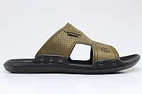 Шлёпки Clubshoes C1 оливка ленивый педаль, шлепанцы.мужские тапочки, заклепки, британец, пляжные сандалии.