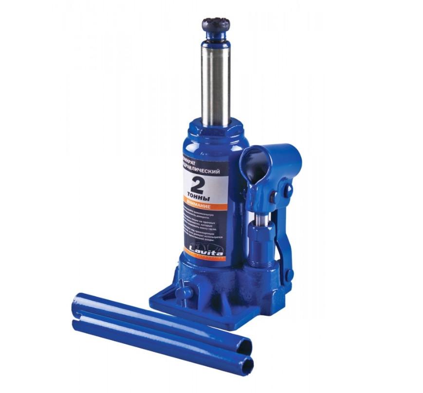Домкрат пляшковий гідравлічний LAVITA 2 тонни 148-278 мм LA JNS-02