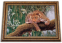 """Картина-гобелен """"Леопард"""" 55х40 см"""