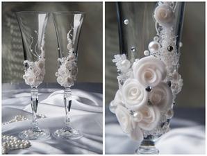 "Свадебные бокалы ""Цветы"""