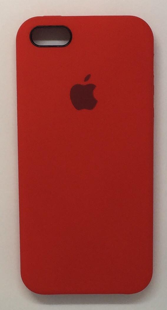 """Чехол Silicon iPhone SE/5s/5 - """"Темно-терракотовый №14"""""""
