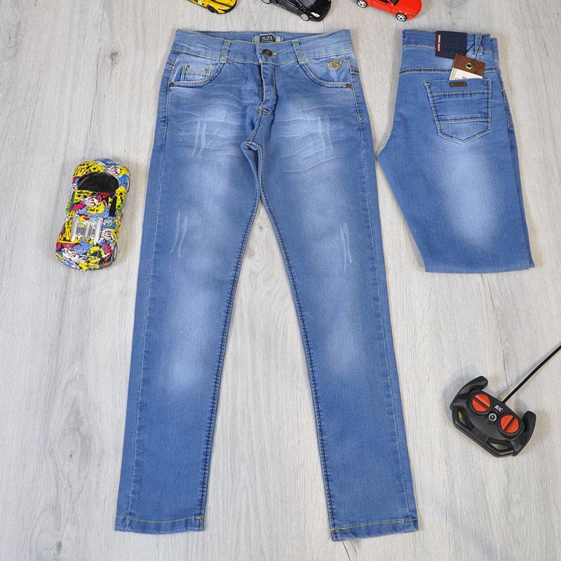 Весенние детские джинсы без утяжки (стрейч) для мальчиков 9-12 лет (4 ед в уп)