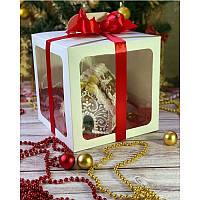Коробка для торта, пряничного домика 210*210*210