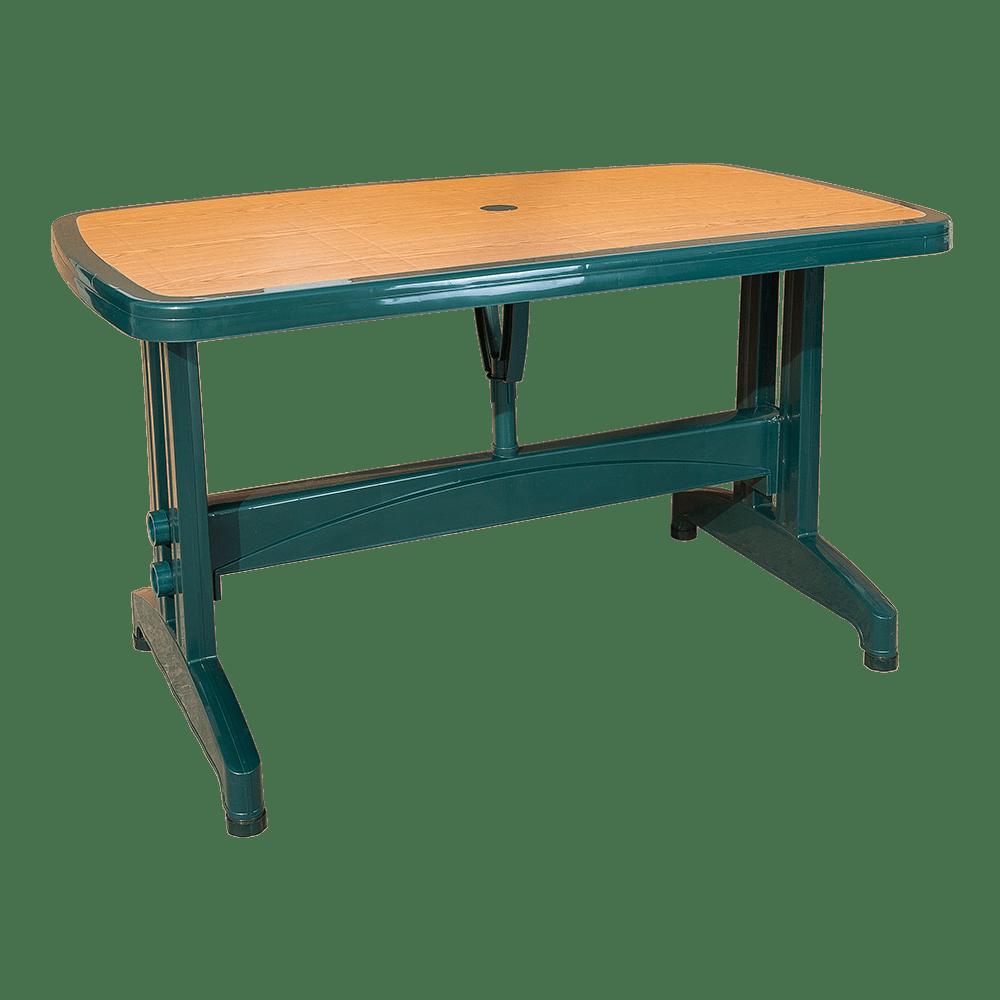 Стол с декором под дерево прямоугольный Irak Plastik 80x140 зеленый