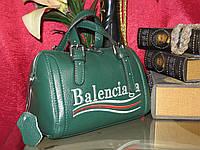 Женская еожаная сумочка Balenciaga  (Зелёная)