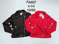 Куртка кожзам для девочек оптом, F&D, 4-14 лет, № FA607