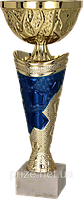 Кубок 7184/D, золотисто'-синий, 24 см.