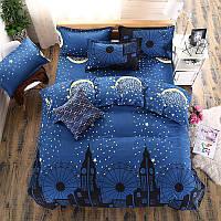 Комплект постельного белья Ночной город (двуспальный-евро) Berni