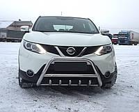 Защита переднего бампера (кенгурятник)  Nissan Qashqai 2014+, фото 1
