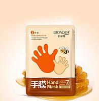 Маска - перчатка для рук увлажняющая с медом Bioaqua Honey Soft ( Маска для рук)