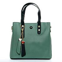 Женская сумка 24*21*12 зеленая, фото 1