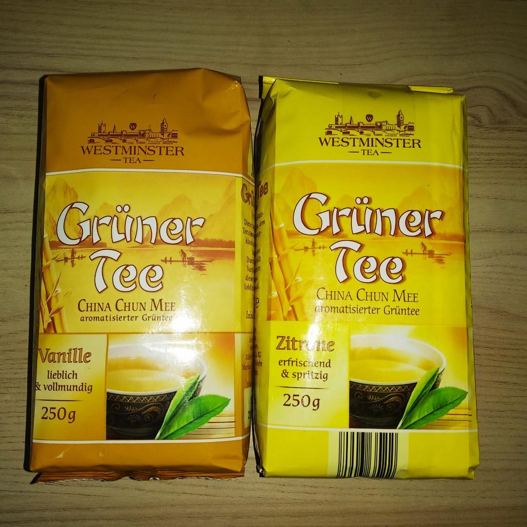 Чай Westminster зелений ваніль, лимон 250 гр.