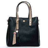 Женская сумка 24*21*12 черная, фото 1