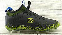 Бутсы футбольные Restime черно - зеленые (41-45 р.) BS168
