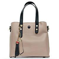 Женская сумка 24*21*12 бежевая, фото 1
