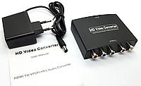 Конвертер переходник HDMI -> компонентный YPbPr+audio