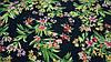 Ткань черный штапель цветочный принт