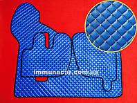 Коврики в салон из экокожи на RENAULT PREMIUM синие