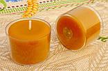 Круглая прозрачная восковая чайная свеча 30г для аромаламп и лампадок; натуральный пчелиный воск, фото 3