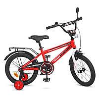 Велосипед детский PROF1 16д. T1675  Forward,красный,звонок,доп.колеса