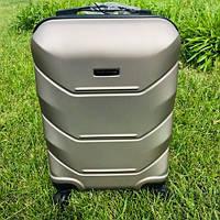 Дорожный пластиковый чемодан Wings на 4 колесах 106 л (большой)
