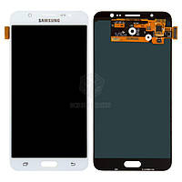 Дисплей для Samsung Galaxy J7 2016 (J7108, J710F, J710FN, J710H, J710M) Оригинал Белый с сенсором #GH97-18855C/GH97-18931C