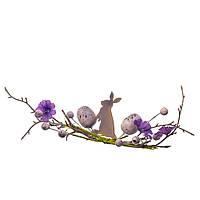 """Ветвь пасхальная """"Лиловый кролик"""""""