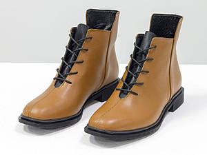 Ботинки табачного цвета из итальянской натуральной матовой кожи