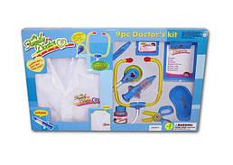 Игровой детский пластиковый набор Доктора с халатом, два вида