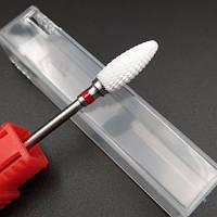 Керамическая фреза для снятия гель лака - кукурузка красная ( Насадка керамическая для фрезера )