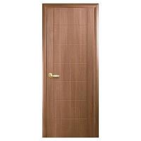 Межкомнатная дверь Новый стиль Рина ПВХ делюкс 900мм глухая золотая ольха Р1
