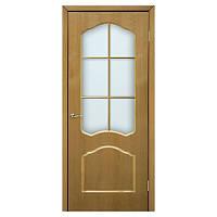 Межкомнатная дверь шпон Омис Каролина 600мм под стекло дуб