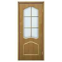 Межкомнатная дверь шпон Омис Каролина 800мм под стекло дуб