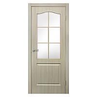 Межкомнатная дверь Омис Классика со стеклом 600мм дуб беленый