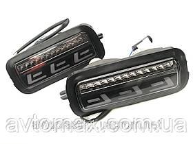 Подфарники Нива ВАЗ 2121-2131 Lexus стиль, диодные с повторителями