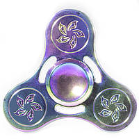 Спиннер металлический Fidget spinner 10 Градиент игрушка антистресс (1614-3513)