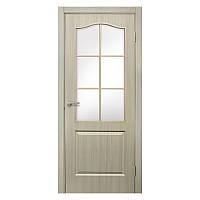 Межкомнатная дверь Омис Классика со стеклом 700мм дуб беленый