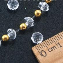 Декоративные кристаллы, бусины- рондели, 6 х 4 мм, 50 шт., для гирлянд, бахромы и др.