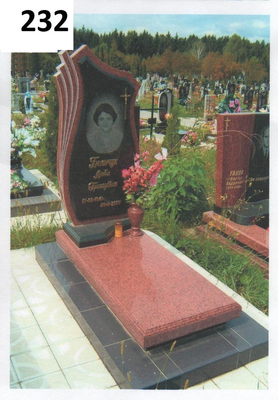 Елітний жіночий пам'ятник комплект з червоного граніту