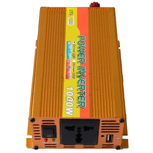 Инвертор c 12V в 220V SOLAR SFA-1000+USB