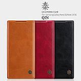 Nillkin Samsung Galaxy Note 10 Qin leather Red case Кожаный Чехол Книжка, фото 4