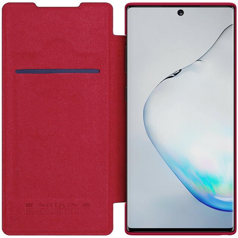 Nillkin Samsung Galaxy Note 10 Qin leather Red case Кожаный Чехол Книжка