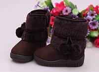 Коричневые сапожки для девочки Стелька: 15см(р) зима 00107