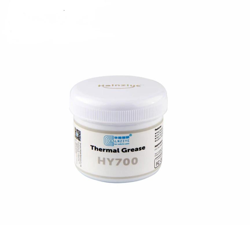 Термопаста HY700 Halnziye (теплопроводность 3.17Вт/мК), серая, 100гр. банка