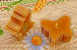 Восковая чайная свеча Бабочка (мотылек) в пластиковом прозрачном контейнере; натурального пчелиный воск, фото 5