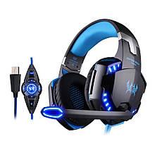 Навушники Kotion Each G2200 7.1 Vibration Surround Sound Black/Blue USB