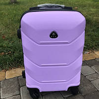 Чемодан пластиковый большой на 4 колесах Fly 106 л фиолетовый
