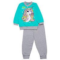 Пижама детская для девочки тонкая Единорог