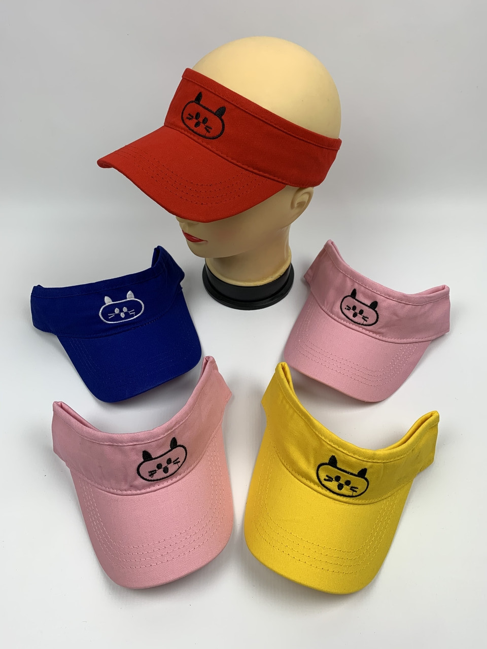 Солнцезащитные козырьки кепки оптом, размер 52-54 (ktm2090)